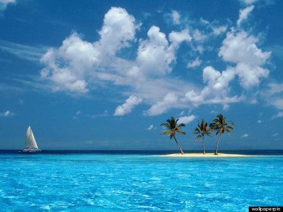 Fond d'écran Azul Windows Caraibes