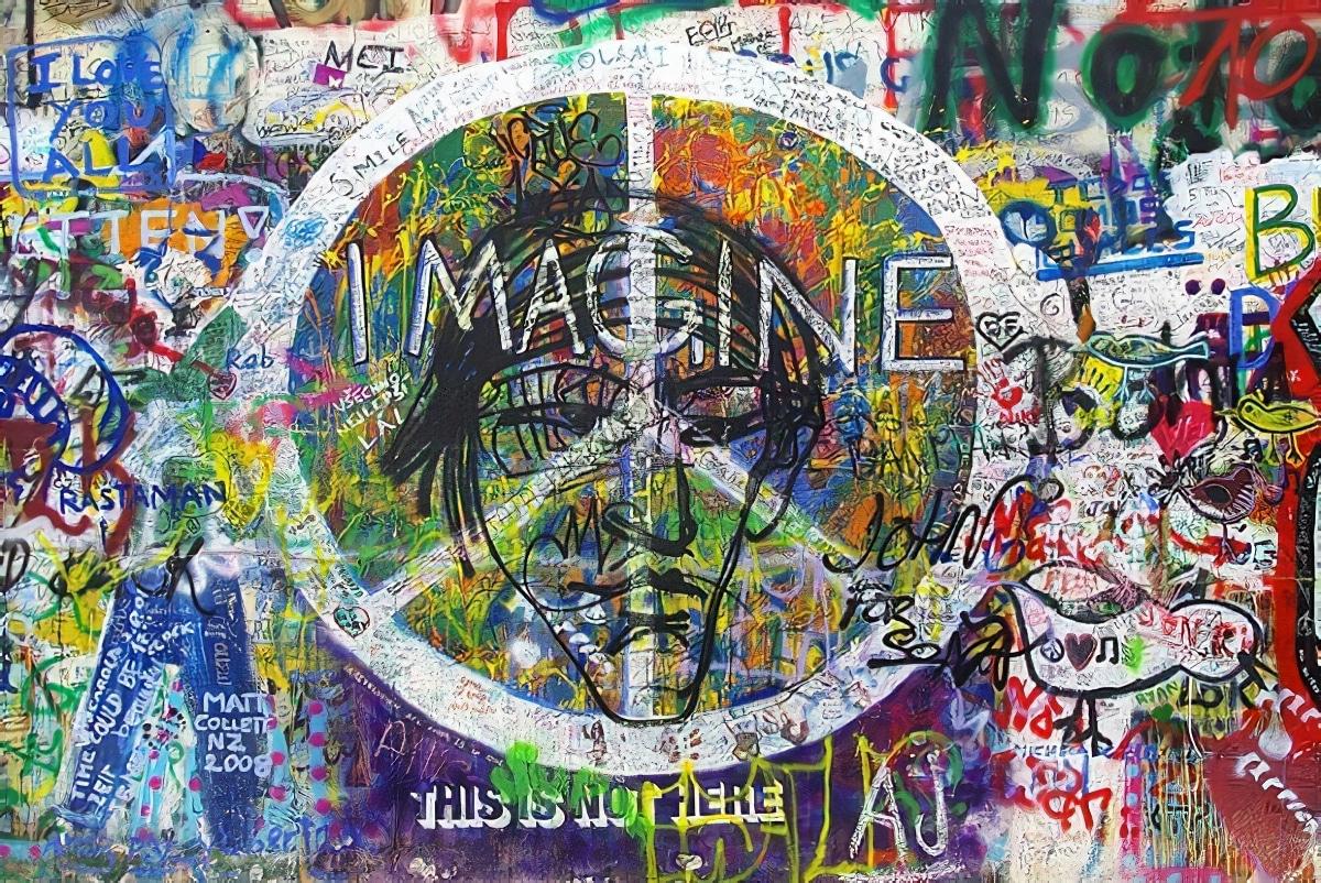 Street-Art : visite du mur John Lennon à Prague