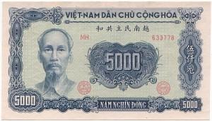 Vietnam dong billet de 5000 vnd