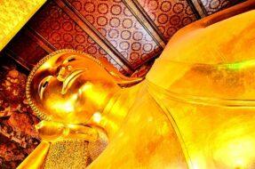 Tête Bouddha couché Wat Pho