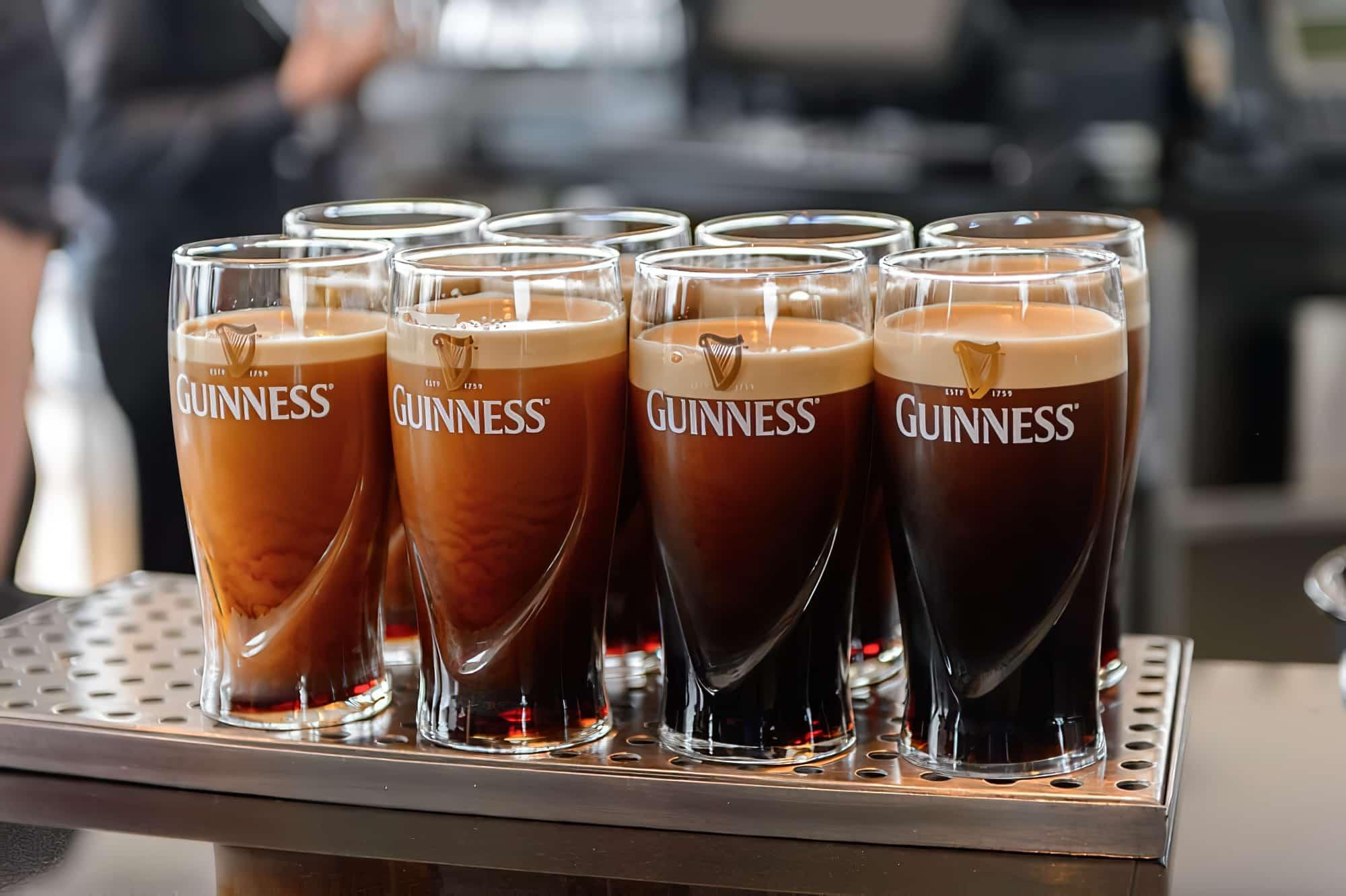 Dégustation de bières au Guinness Storehouse