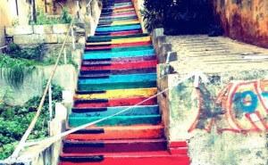 Escalier street-art