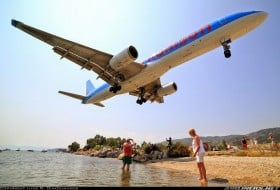 Skiathos aéroport Grèce