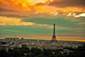 Tour Eiffel, coucher soleil