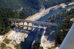 Pont Du Gard vue aérienne