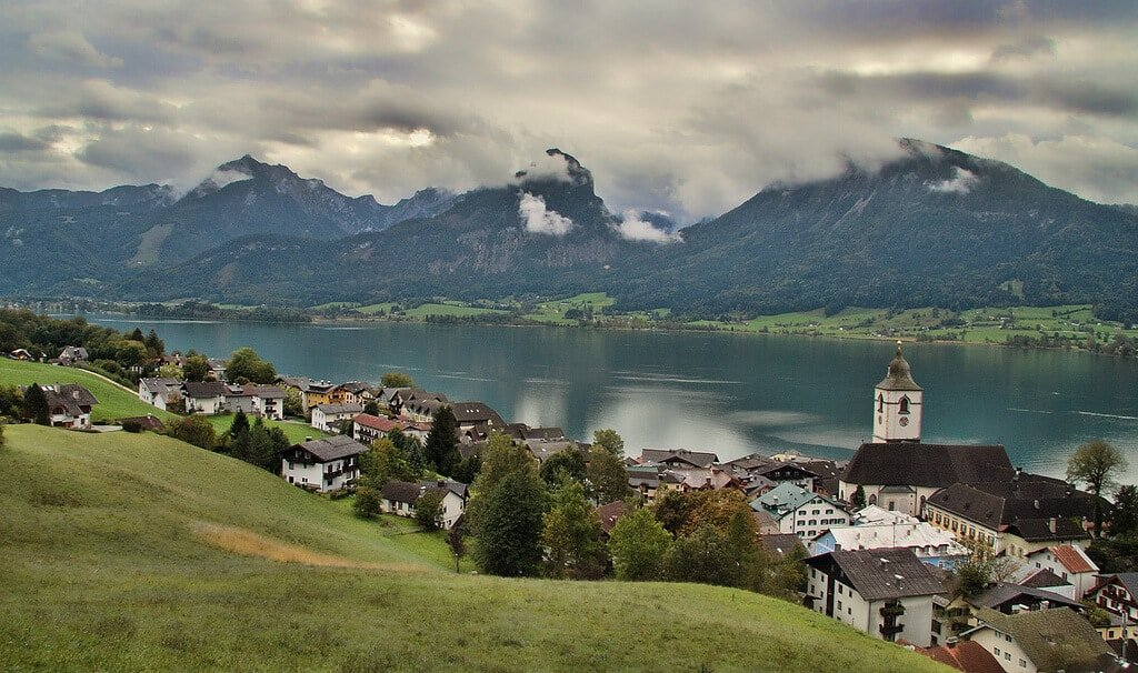 Wolfgangsee, Lac Wolfgang, Salzbourg, Autriche