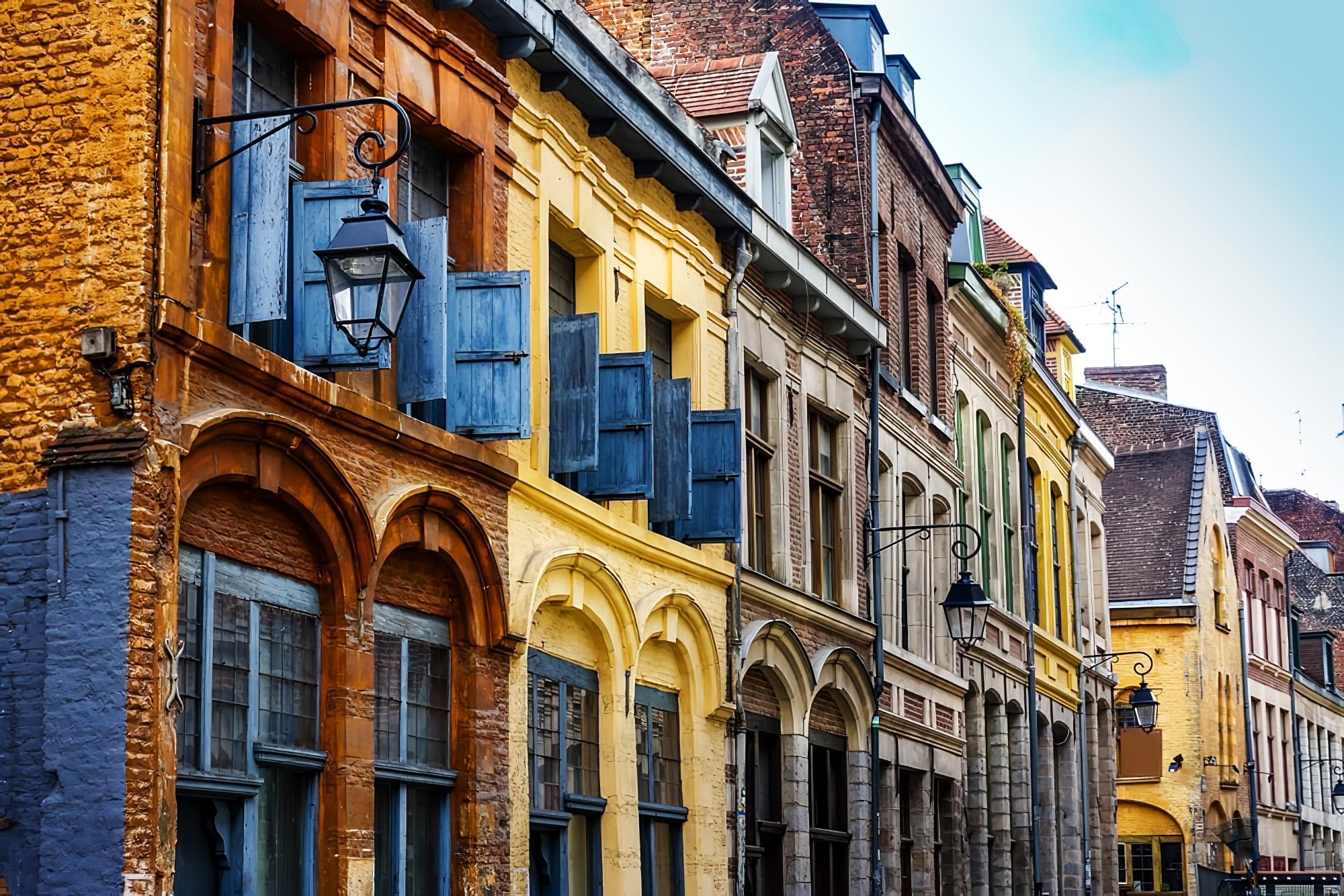 Façades d'immeubles dans le Vieux Lille