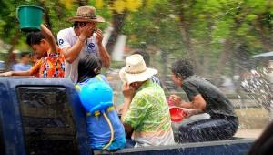 Songkran, nouvel an, Thailande