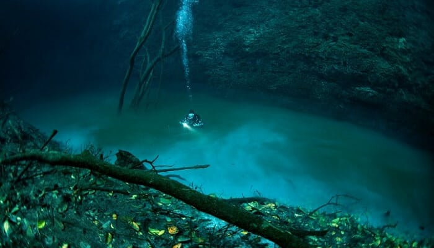 cenote angelita, rivière sous-marine, Mexique
