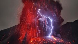 orage volcanique