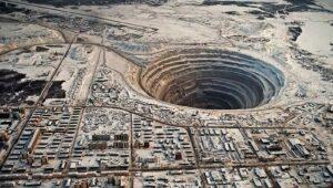 Mine Mir à Mirny en Russie