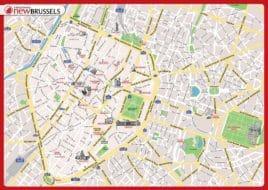 Carte et Plan des Monuments de Bruxelles