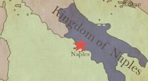 Cartes et plans de Naples, Italie