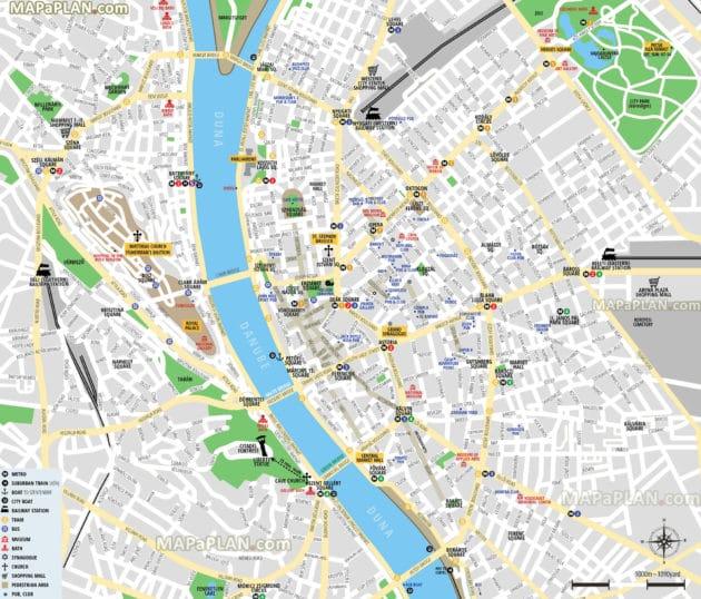 Cartes et plans détaillés de Budapest