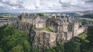 château de Stirling roches