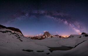 Voie Lactée depuis le Pic du Midi dans les Pyrénées