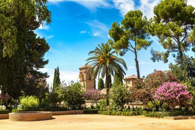 les plus beaux jardins europe alhambra grenade