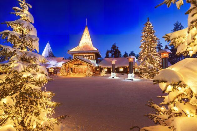 loger dans le village du pere noel en finlande