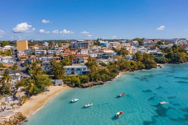 Vue sur le Gosier Plage, Guadeloupe