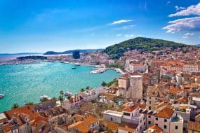Vue de Split en Croatie