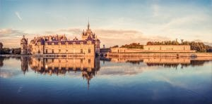 Château de Chantilly, coucher de soleil