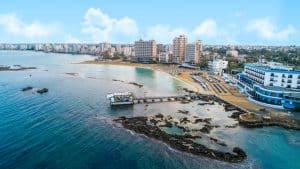 Chypre Nord, plage de Famagusta Palm