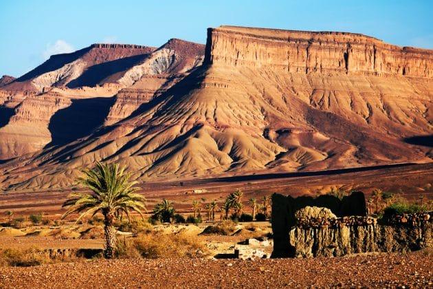 Ruines marocaines dans les montagnes de l'Atlas, Maroc, Afrique