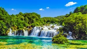 Cascades Krka, Parc national, Dalmatie, Croatie