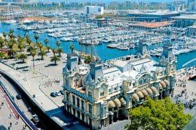 Le Port Vell, vieux port de Barcelone