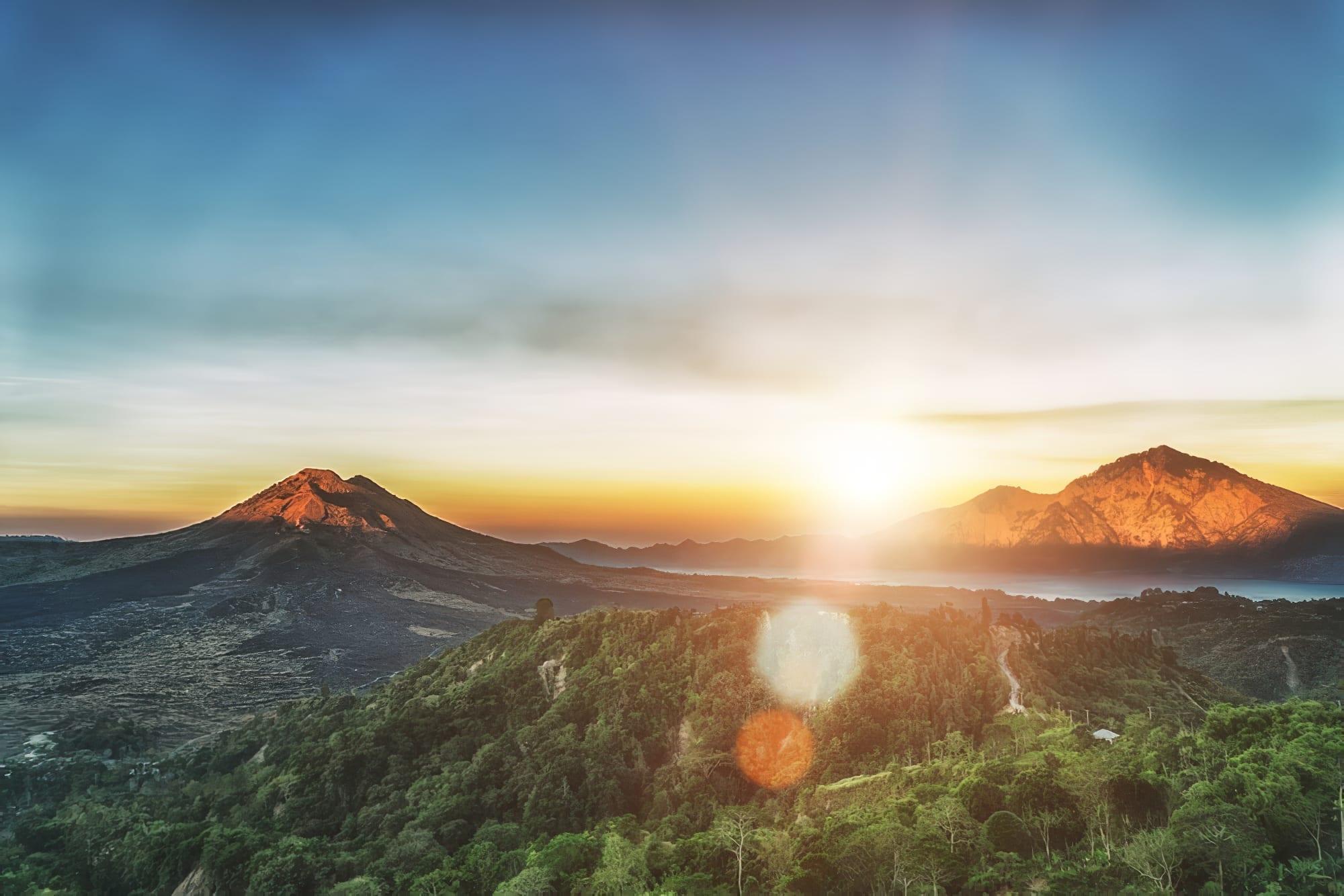 Itinéraire pour la randonnée du Mont Batur à bBali