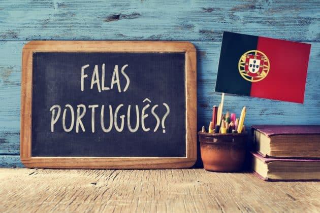 un tableau de bord avec la question falas portuges parlez-vous portugais