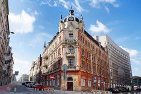 Bâtiment caractéristique du centre-ville de Katowice, Silésie, Pologne, Europe