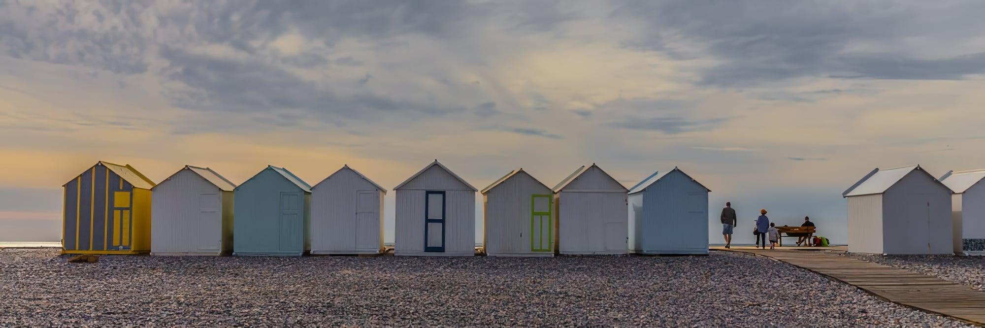Visiter les Hauts-de-France : Cabines de mer dans la baie de Somme