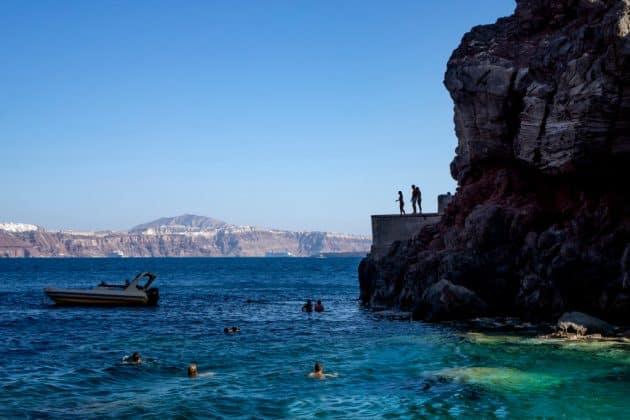 Endroits où faire de la plongée à Santorin