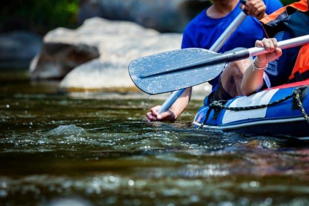 Close up rafting