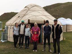 Kyrgyz family yurt