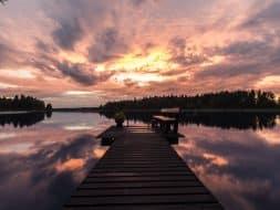 Sunset Lake Päijänne Finland
