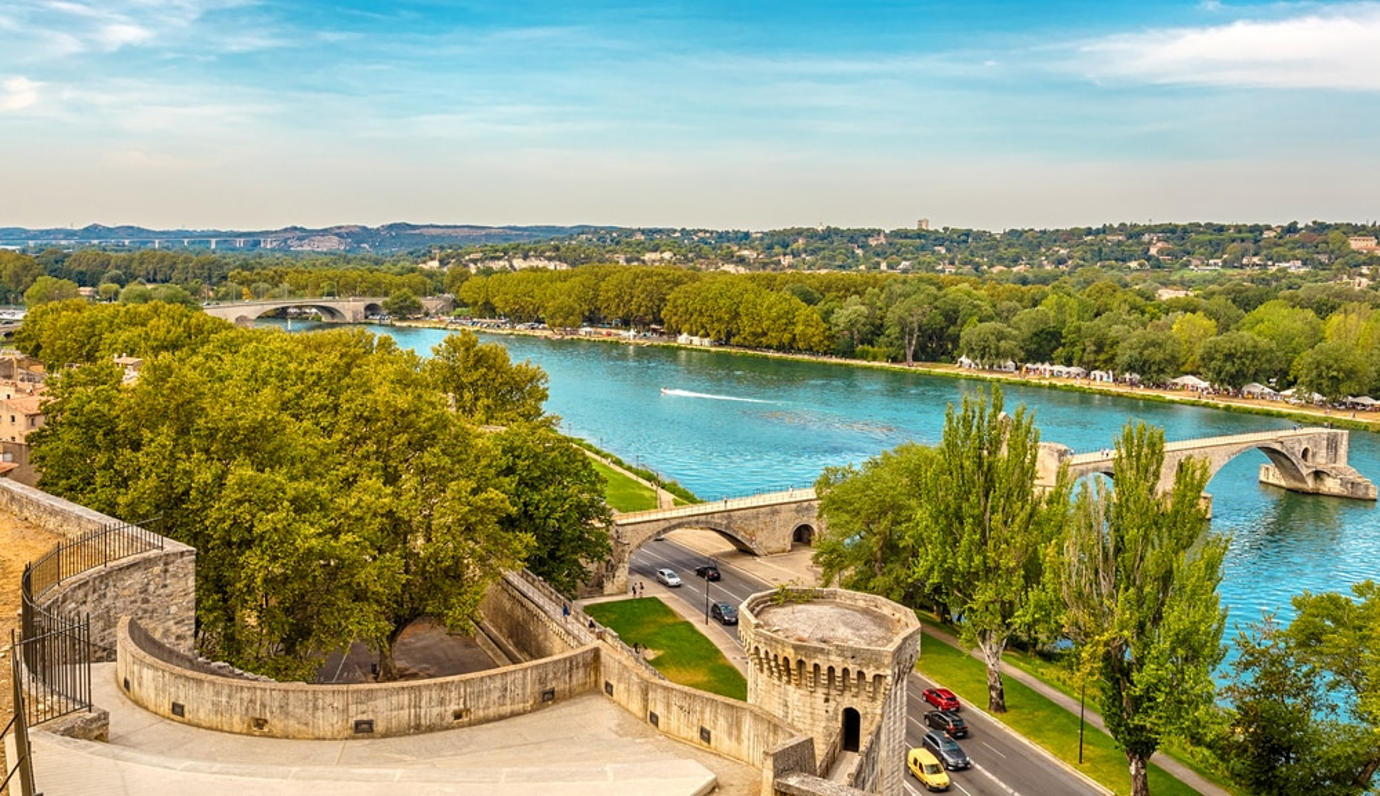 Vue sur Avignon depuis le Palais des Papes