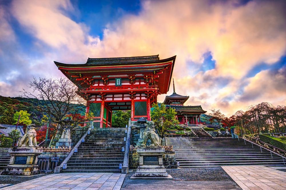La porte du temple de Kiyomizu-dera à Kyoto - photos Japon