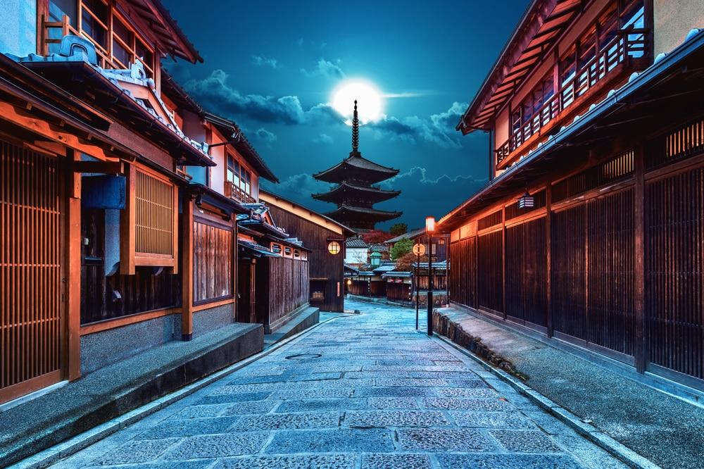 Pagode Yasaka et rue Sannen Zaka à Kyoto