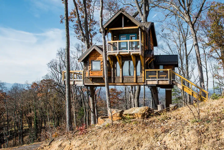 Cabane dans les arbres - Caroline du Nord