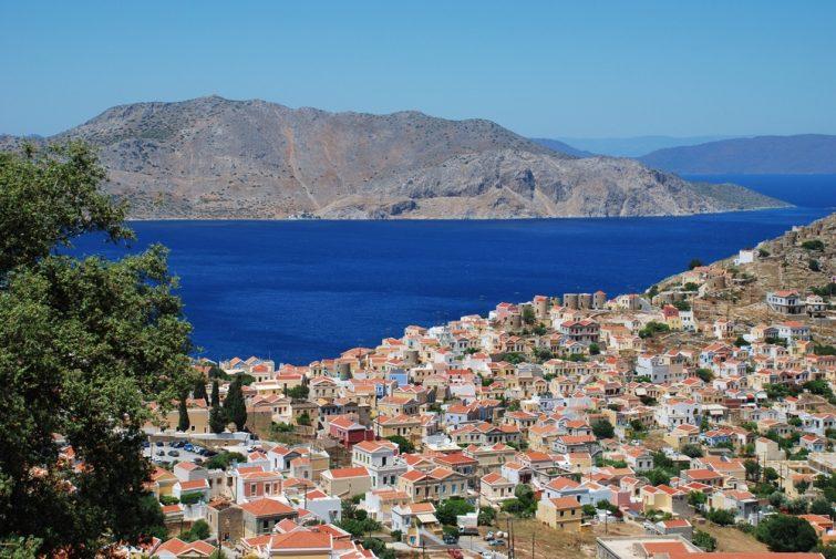 Chorio : la ville haute - visiter Symi