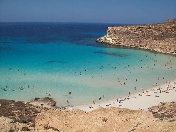 Rabbit Beach, Lampedusa, Italie