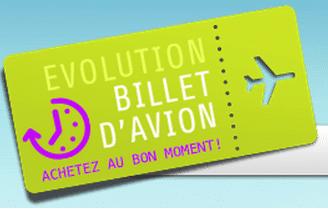 evolution billet avion