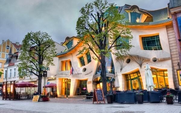 La maison tordue, Sopot, Pologne