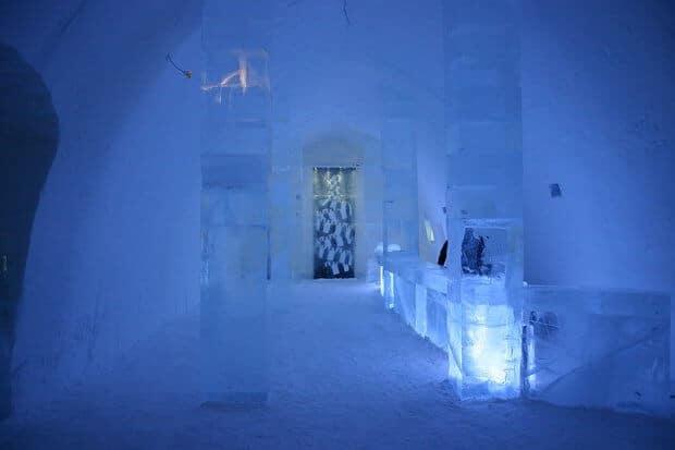 Hôtel de glace en Suède