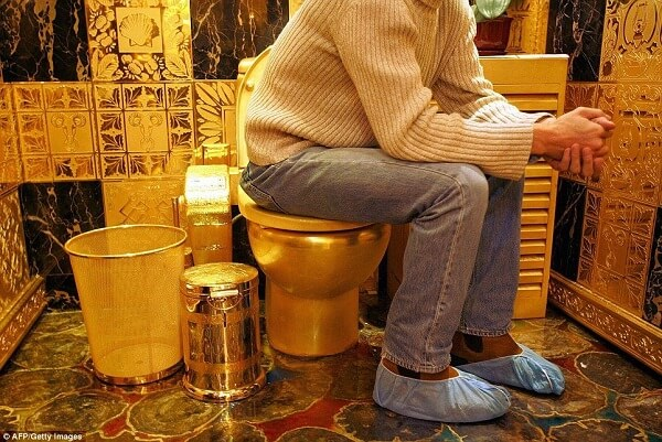toilettes en or