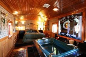 Train couchette en Californie