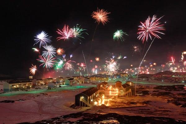 feu artifice groenland