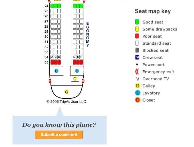 SeatGuru sièges